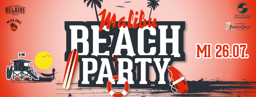Malibu Beach Party im Perkins Park